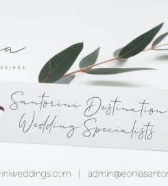 Eonía Santorini Weddings